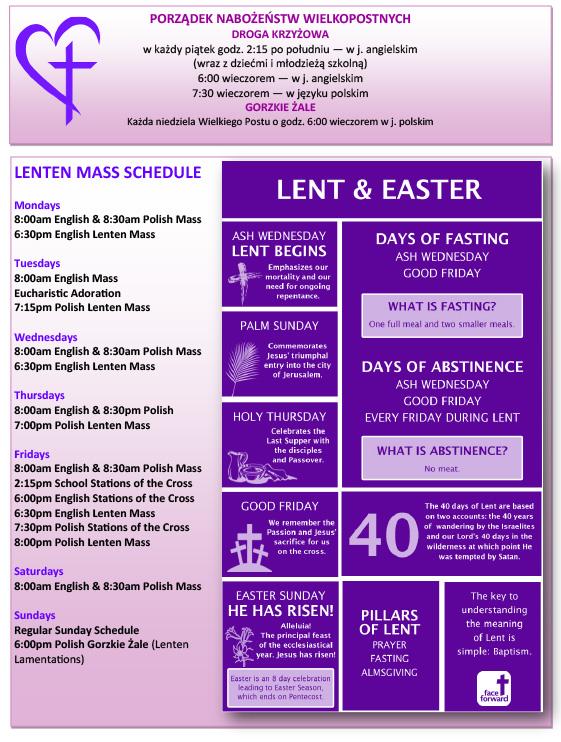 Lent Schedule